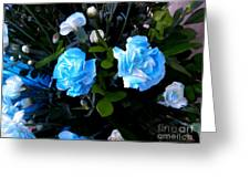 Blue Carnations Greeting Card