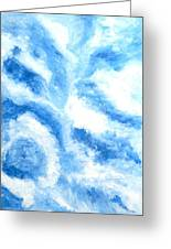 Blue Cloud Greeting Card