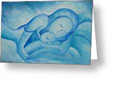 Blue Co Sleeping Greeting Card