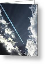Blue Contrail Greeting Card