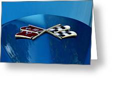 Blue Corvette Greeting Card