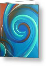 Cosmic Swirl By Reina Cottier Greeting Card