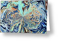 Blue Crazy Lace  Greeting Card