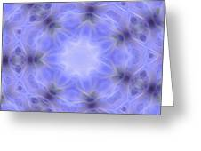 Blue Crystallized 1  Greeting Card
