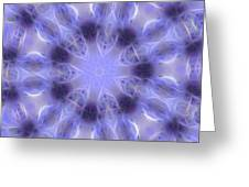 Blue Crystallized 2  Greeting Card