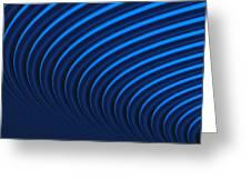 Blue Curves Greeting Card