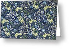 Blue Daisies Design Greeting Card by William Morris