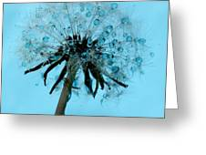 Blue Dandelion Wish Greeting Card