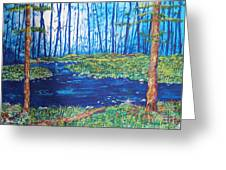 Blue Day Stream Greeting Card