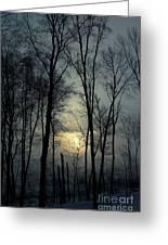 Blue Daybreak Greeting Card
