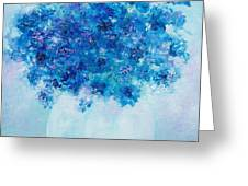 Blue Delphiniums Greeting Card