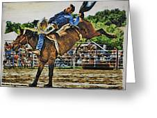 Blue Denim Rider Greeting Card