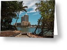 Blue Diamond Condos Miami Beach Greeting Card