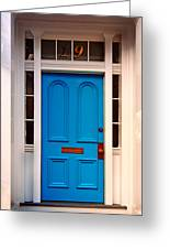 Blue Door 19 Greeting Card