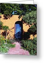 Blue Door At Old Mesilla Greeting Card
