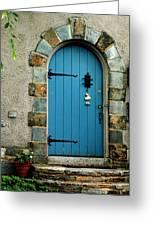Blue Door In Baltimore Greeting Card