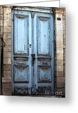 Blue Door In Limassol Greeting Card