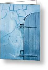Blue Door In St. Thomas Virgin Islands Greeting Card