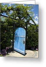 Blue Door To Childrens Garden Huntington Library Greeting Card