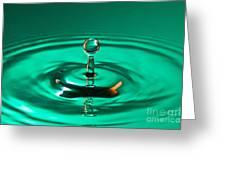 Blue Droplet Splashing Greeting Card