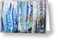 Blue Earth Abstract Greeting Card