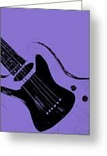 Blue Electric Guitar Greeting Card