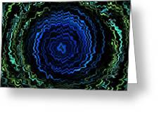 Blue Electric Twirl 5 Greeting Card