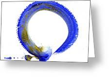 Blue Enso Greeting Card