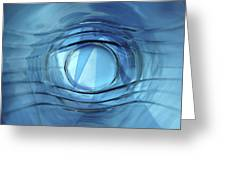 Blue Eye Greeting Card