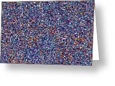 Blue Field #6 Hd Greeting Card