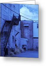 Blue Fire Escape Usa Near Infrared Greeting Card