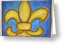 Blue Fleur De Lis Greeting Card