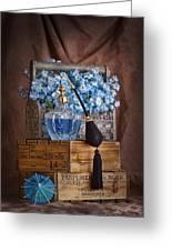 Blue Flower Still Life Greeting Card