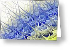 Blue Folium Greeting Card