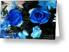 Blue For Hims Greeting Card