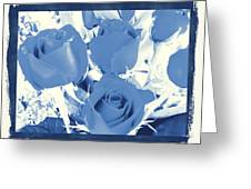 Blue For You Roses Greeting Card