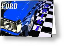 Blue Ford 351 Gt Greeting Card