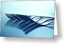 Blue Forks Greeting Card