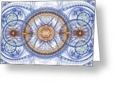 Blue Fractal Inception  Greeting Card
