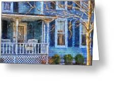Blue Front Porch Photo Art 01 Greeting Card