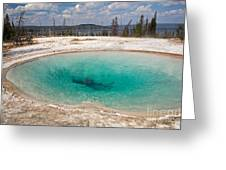 Blue Funnel Spring In West Thumb Geyser Basin Greeting Card