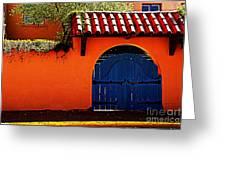 Blue Gate In Santa Fe Greeting Card