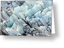 Blue Glacier Ice Background Texture Pattern Greeting Card