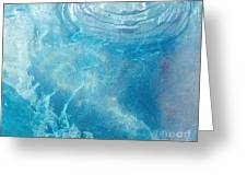 Blue Glacier Ice Greeting Card