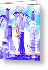 Blue Glass And Gecko Greeting Card