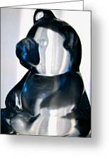 Blue Glass Bear Greeting Card