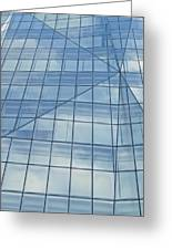 Blue Glass Chicago Facade Greeting Card