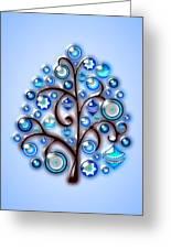 Blue Glass Ornaments Greeting Card