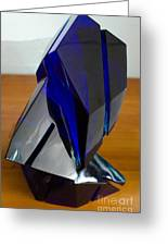 Blue Glass Sculpture Greeting Card