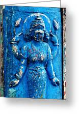 Blue Goddess Greeting Card